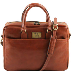 Tuscany Leather Urbino Leather 1 Compartment Laptop Briefcase Front Pocket TL141241