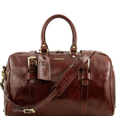Italian Leather Travel Bag TL141248 - Executive Leather