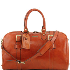 TL Voyager Leather Travel Bag with Front Straps - Large size TL141248