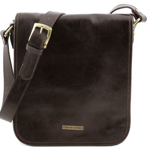 Tuscany Leather Messenger Two Compartments Leather Bag TL141255 - Executive Leather
