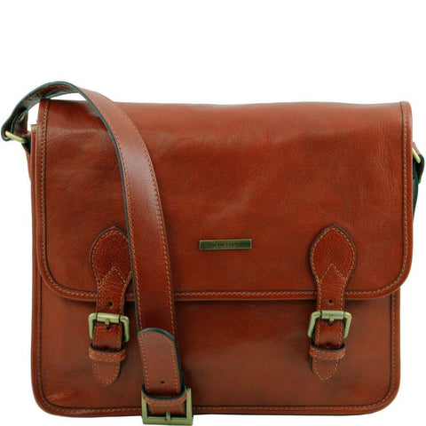 Tuscany Leather Postman Leather Messenger Bag TL141288 - Executive Leather