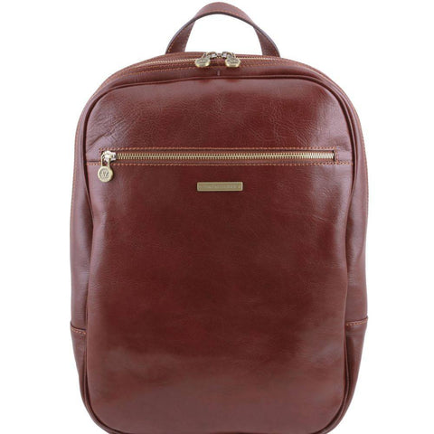 Tuscany Leather Osaka Leather Laptop Backpack TL141308 - Executive Leather