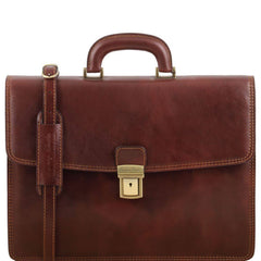 Amalfi 1 Compartment Italian Leather Briefcase TL141351