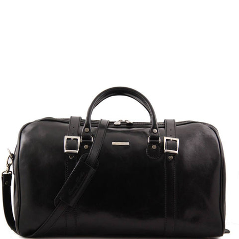 Tuscany Leather Berlin Travel Leather Bag with Front Straps Large Size TL1013 - Executive Leather