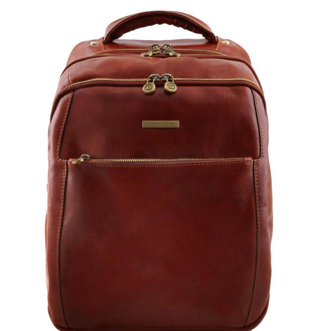 Tuscany Leather Phuket 3 Compartments Leather Laptop Backpack TL141402 - Executive Leather