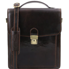 Tuscany Leather David Leather Crossbody Bag For Men - large size TL141424 - Executive Leather