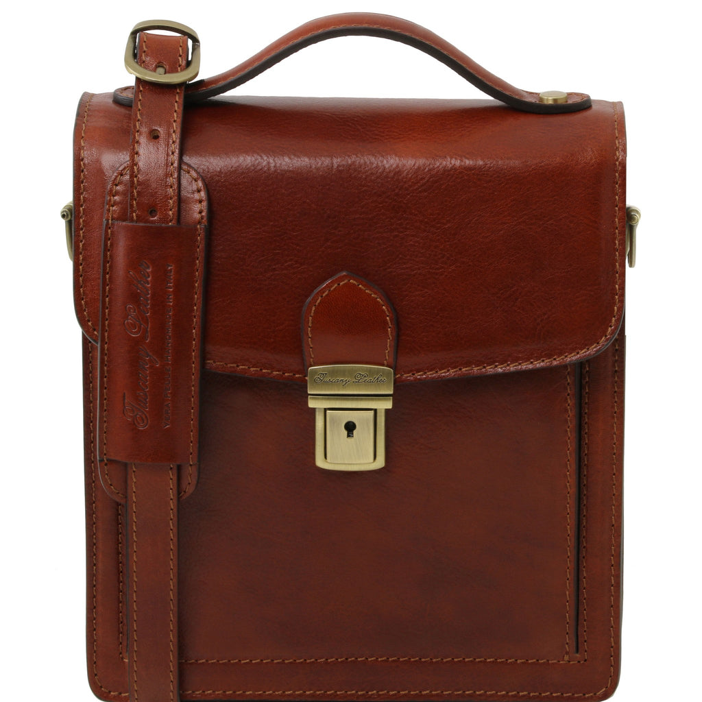 Tuscany Leather David Leather Crossbody Bag For Men - Small size TL141425 - Executive Leather