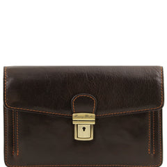Tommy Exclusive leather Handy Wrist Bag For Men TL141442 - Executive Leather