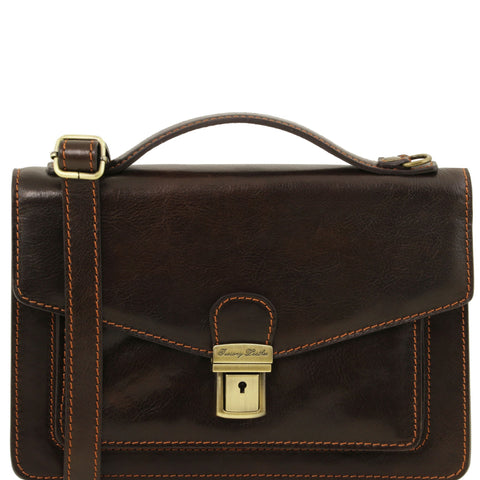 Tuscany Leather Eric Leather Crossbody Bag For Men TL141443 - Executive Leather