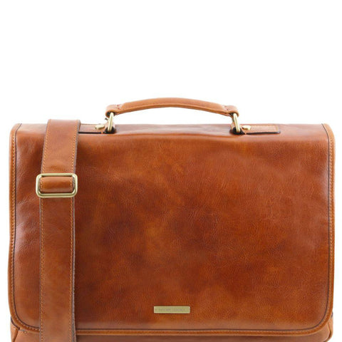 Tuscany Leather Mantova Leather smart Briefcase TL141450-Executive Leather