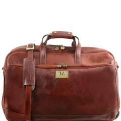 Italian Wheeled Travel Leather Luggage Bag - Large Size TL141453