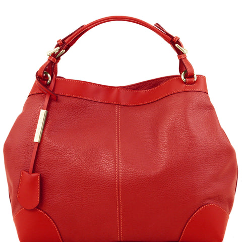Ambrosia - Soft Leather Bag with Shoulder Strap TL141516