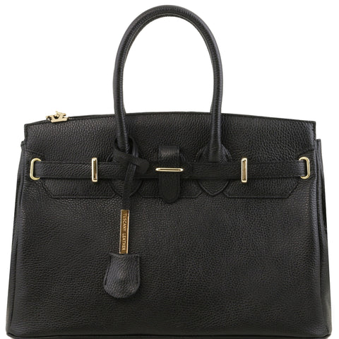 TL Bag - Leather handbag with golden hardware TL141529 - Executive Leather