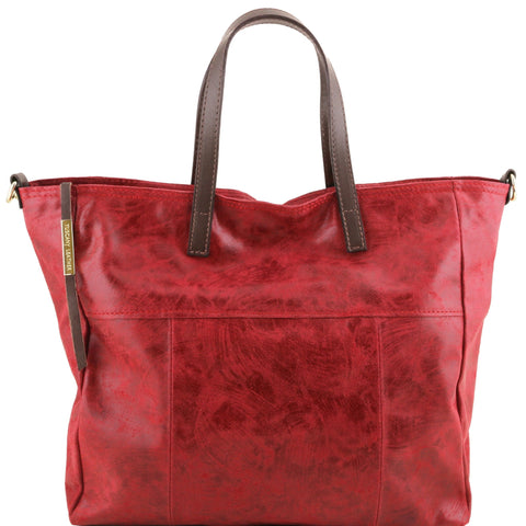 TL Annie Aged Effect Leather TL Smart Shopping Bag TL141552 - Executive Leather