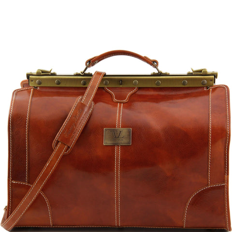 TL Madrid Gladstone Italian Leather Travel Bag Small Size TL1023