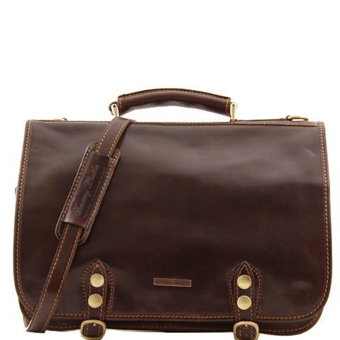 Capri Leather 2 Compartments Messenger Bag TL10068