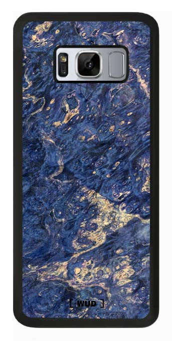 (T) Galaxy s8 - Wood Phone Case - Blue Burl