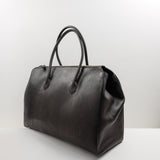 1162 Classic Tote Bag with Zip in Brown Python