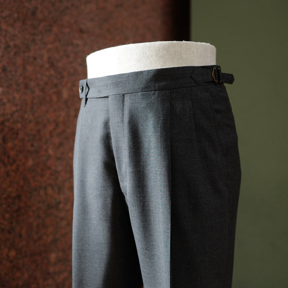 Grey Summer Wool Trousers
