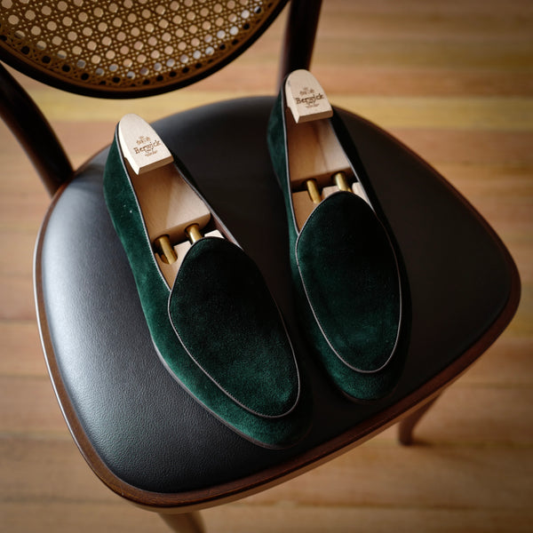 4950 Belgian Loafers in Night Green
