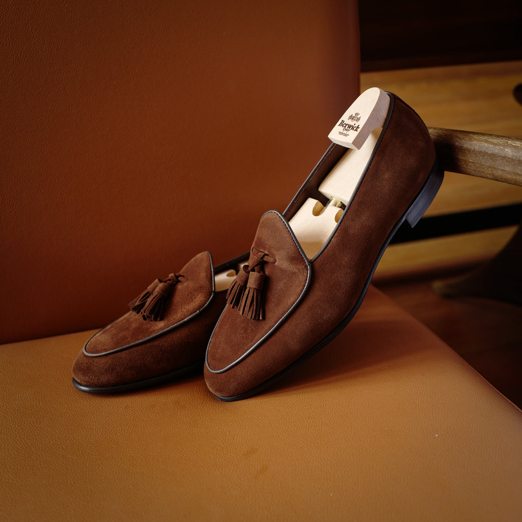 4951 Tassel Loafers in Brown Superbuck