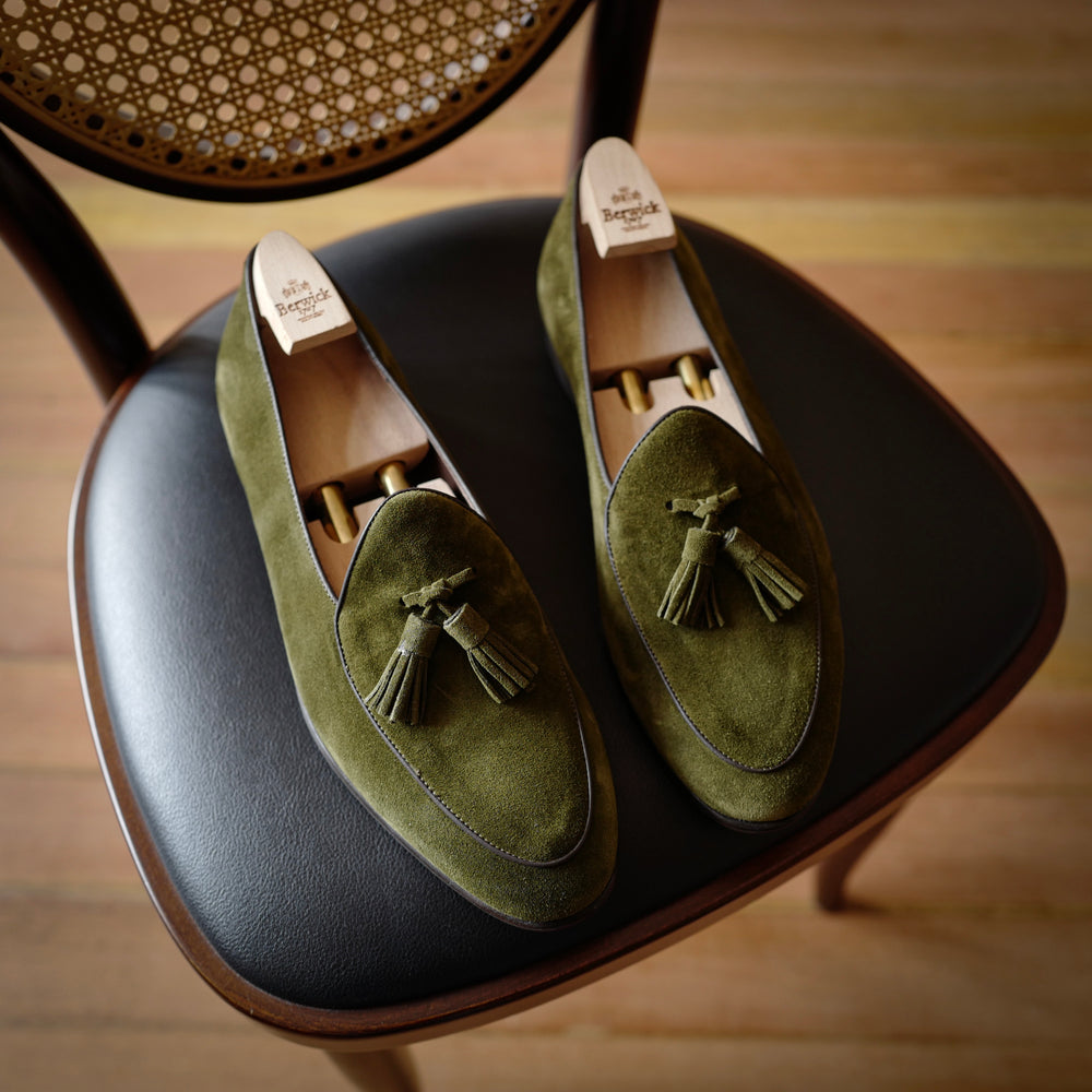 4951 Tassel Loafers in Florence Green