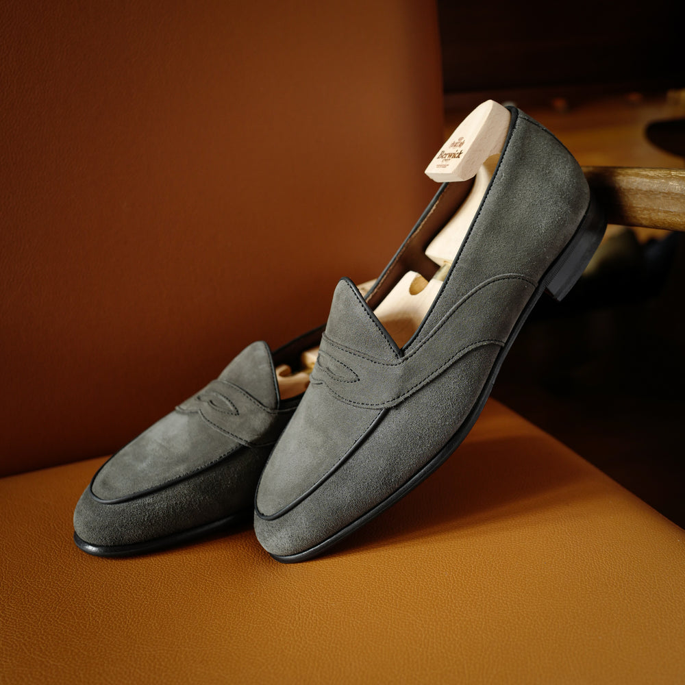 4952 Penny Loafers in Grey Superbuck