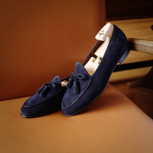 5154 Braided Tassel Loafers in Florence Navy