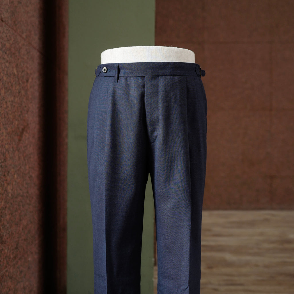 Navy Summer Wool Trousers