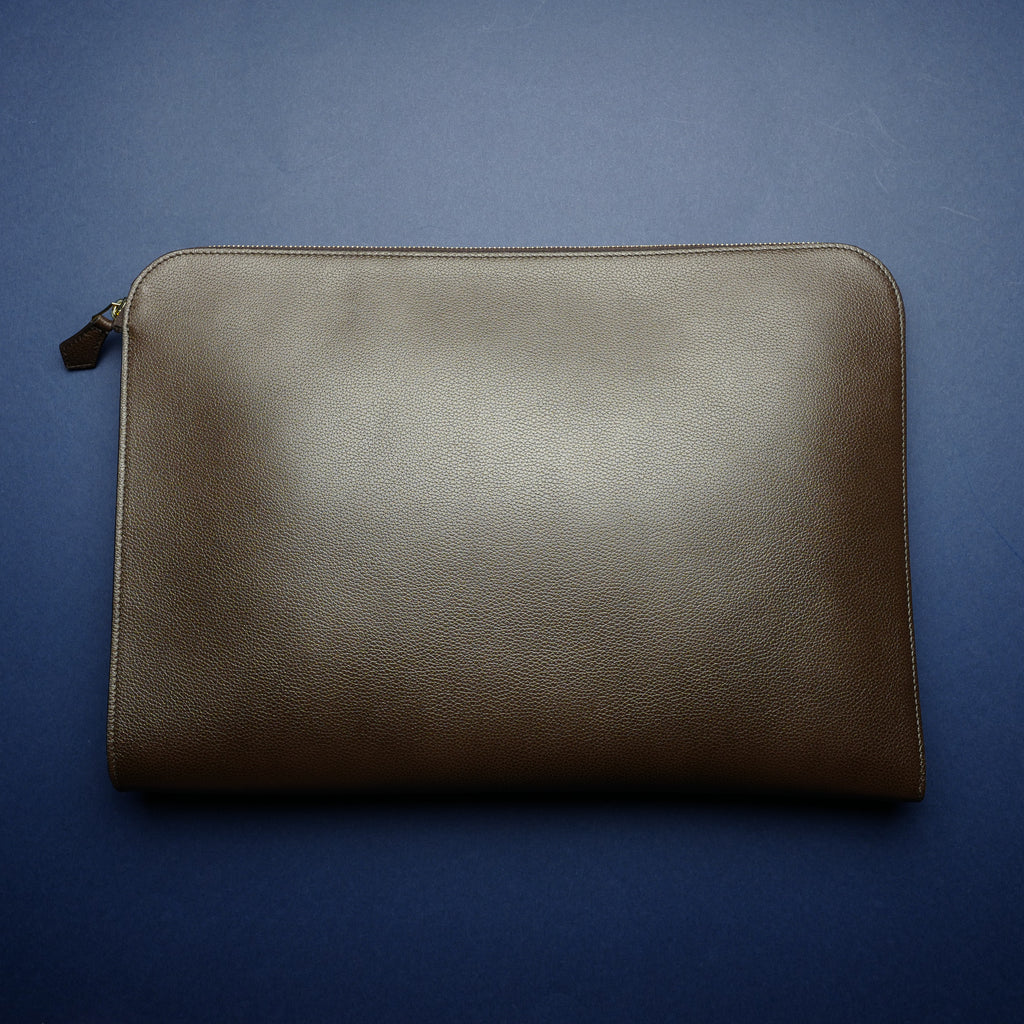 934 Document Case in Dark Brown Calf