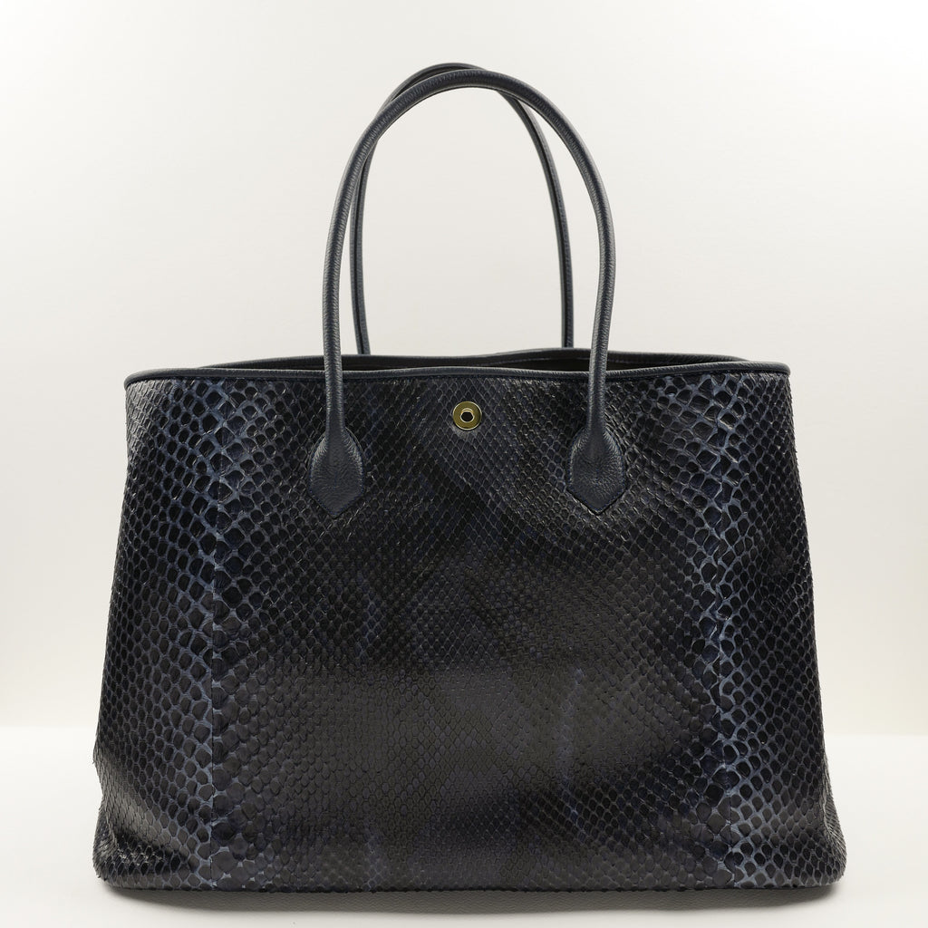 941 Classic Tote Bag in Navy Python