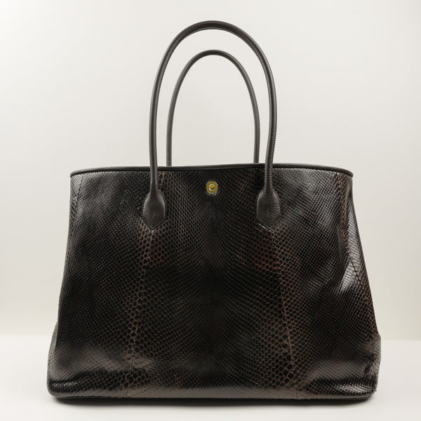 941 Classic Tote Bag in Brown Python