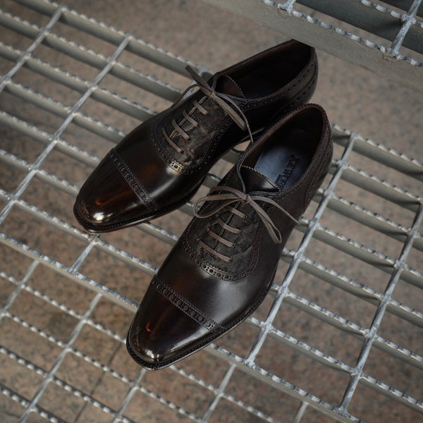 Adelaide Oxford in Dark Brown French Calf with Elephant facing