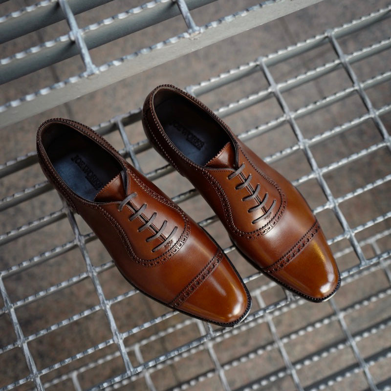 Adelaide Oxford in Medium Brown French Calf