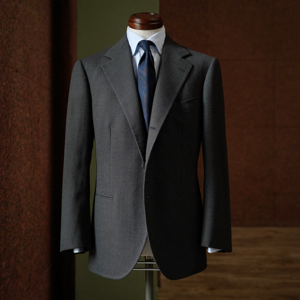 Grey Birdseye Single-breasted Jacket