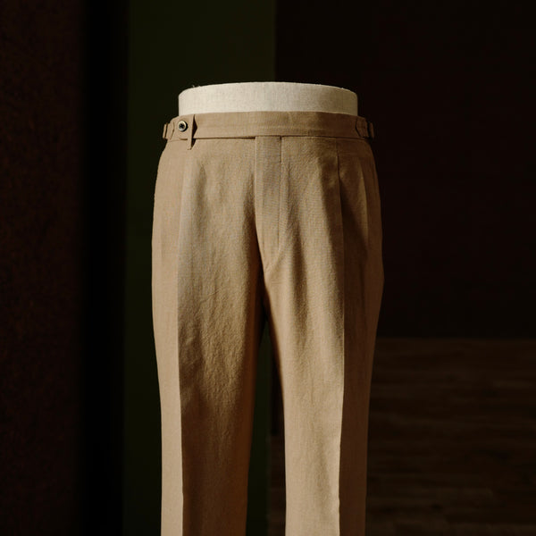 Brown Cotton Fresco Trousers