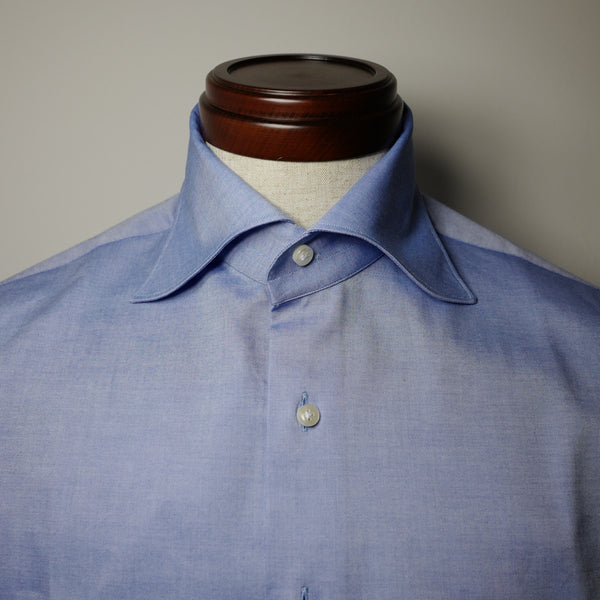 Blue Pinpoint Shirt with S Collar