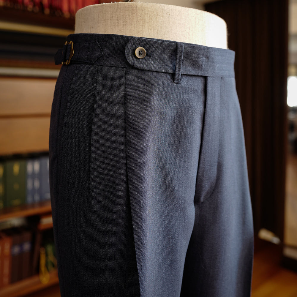 Denim Blue Wool/Mohair Trousers (New Classic)