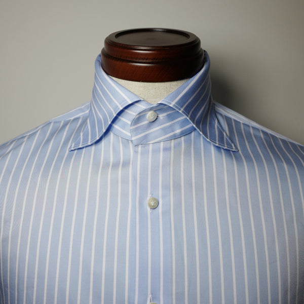 White Stripe Shirt with S Collar