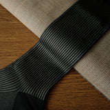 Grey Cotton over-the-calf Socks with Stripes