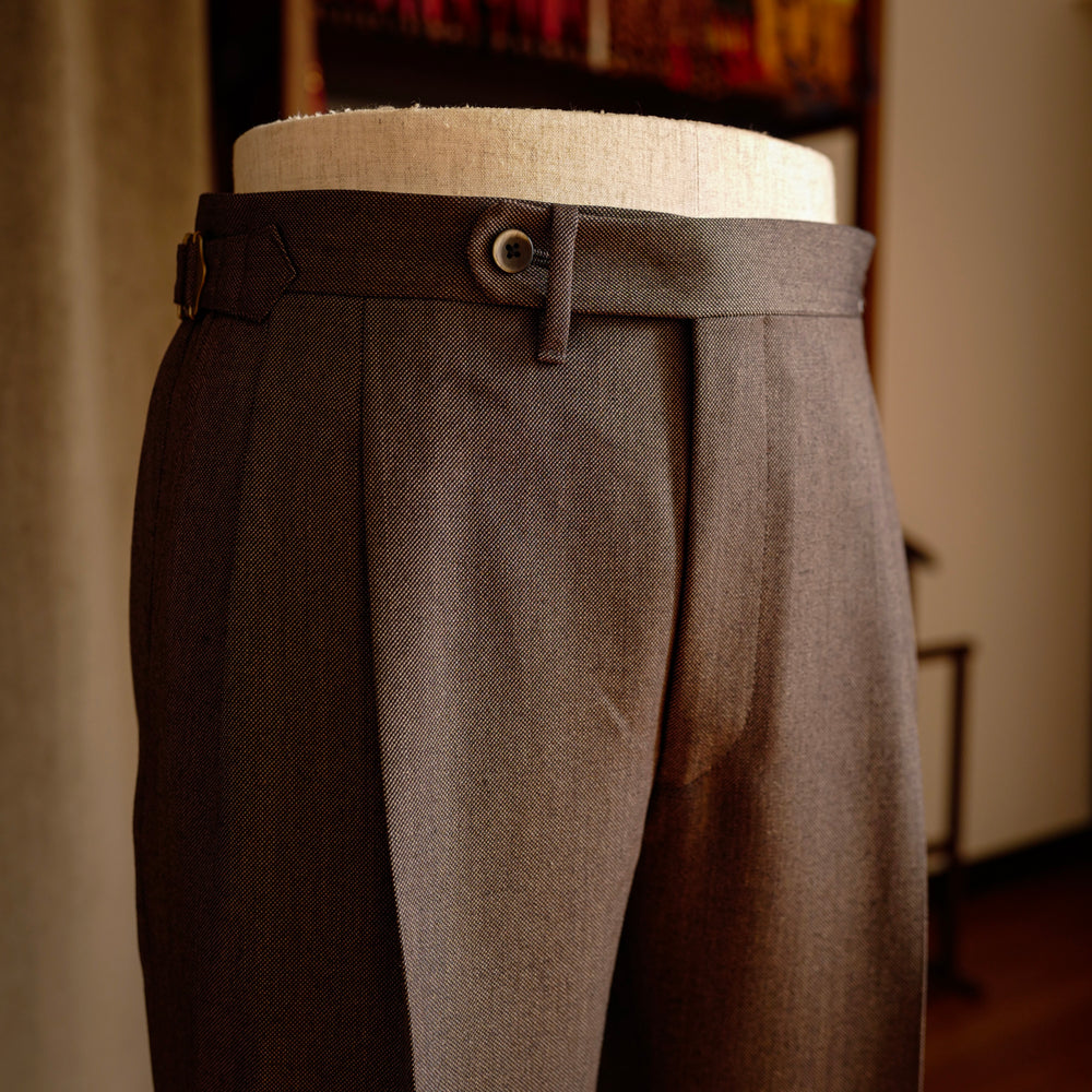 Brown Birdseye Wool Trousers Mod.2