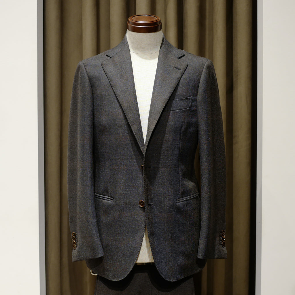 Dark Grey with Brown Check Suit