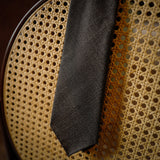 Brown Micro-Houndstooth Wool Tie