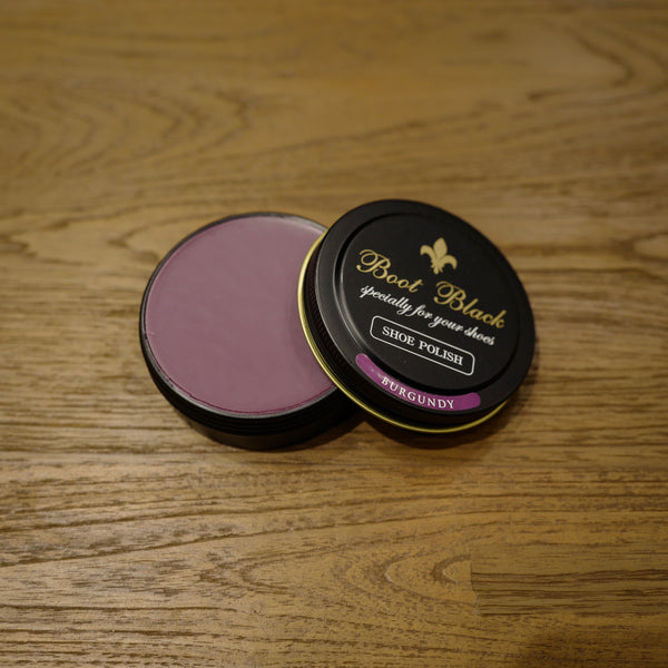 Burgundy Shoe Polish Wax