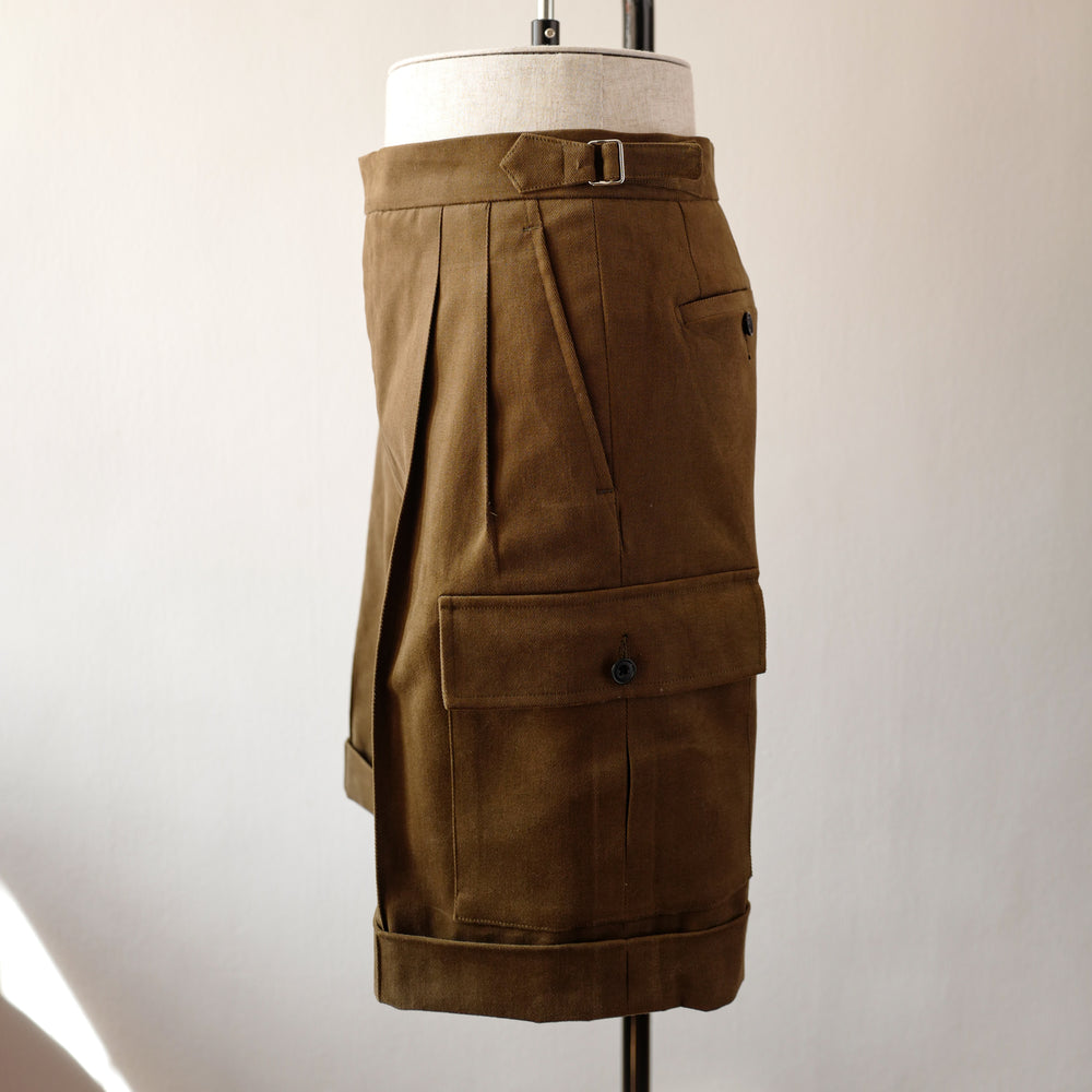 C1 Shorts in brown cotton