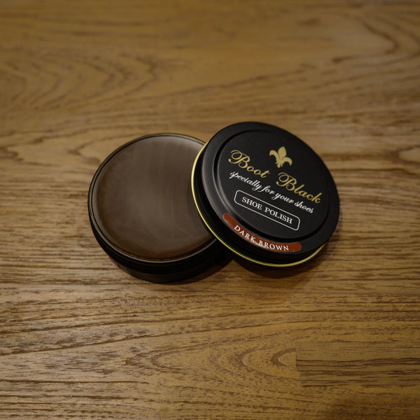 Dark Brown Shoe Polish Wax