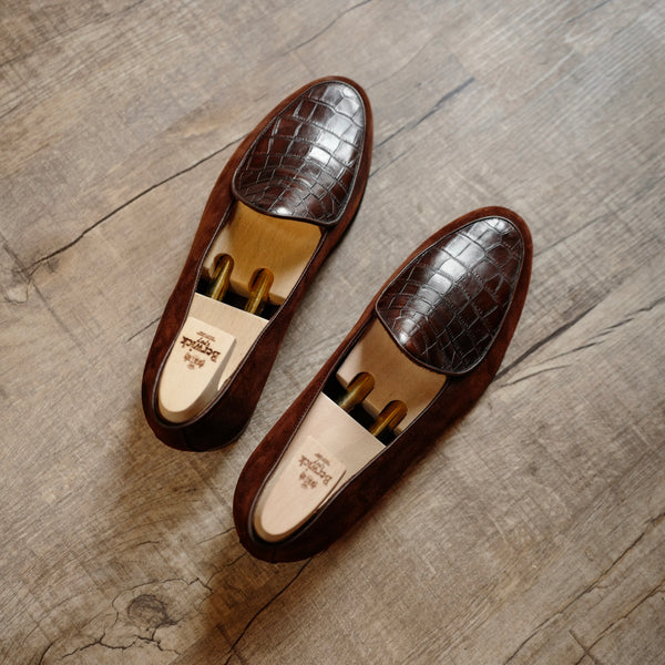 4950 Croco Loafers in Polo Brown