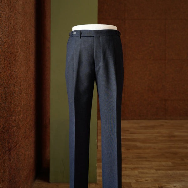 Navy 4-ply Fresco Trousers