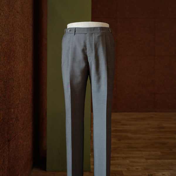 Grey Wool/Mohair Trousers
