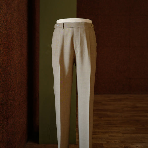 Beige Wool/Mohair Trousers